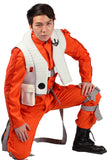 Xcoser Star Wars VII Poe Dameron X Wing Fighter Orange Cosplay Costume