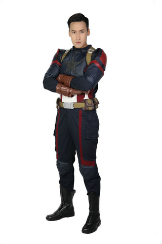 Xcoser Avengers: Infinity War Captain America Full Set Outfit Costume