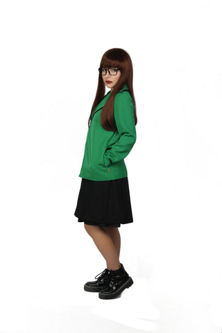 Xcoser Daria: The Series Cosplay Daria Coat & One-Piece Dress Costume