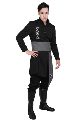 XCOSER Ghost B.C. Nameless Ghoul Black Coat & Belt Cosplay Costume