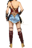 Xcoser Wonder Woman PU Leather Sleeveless Cosplay Costume