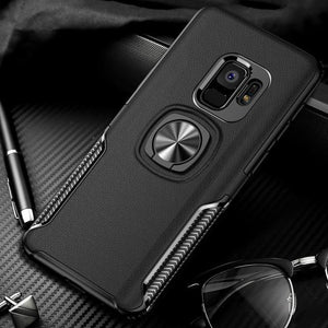 best sneakers 423c2 1e8db New Luxury Cases with Finger Ring & Magnetic For Car Holder for Samsung  Galaxy S9, S9 Plus
