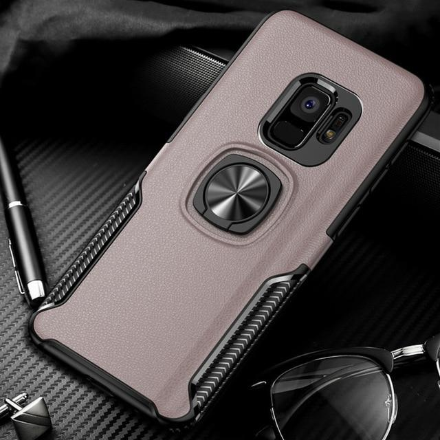 best sneakers ab236 32797 New Luxury Cases with Finger Ring & Magnetic For Car Holder for Samsung  Galaxy S9, S9 Plus
