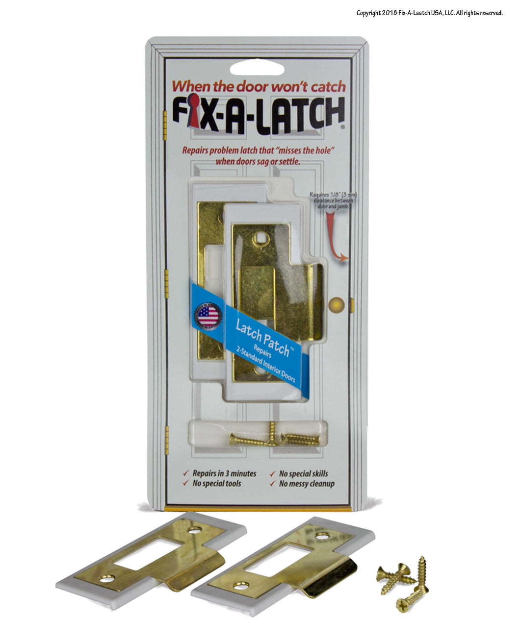Interior 2-Pack with Brass Finish