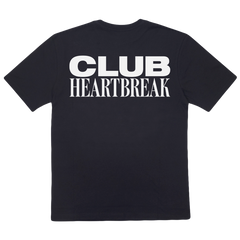 CLUB HEARTBREAK TEE (BLACK/WHITE)