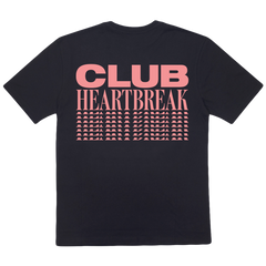 CLUB HEARTBREAK REPEATER TEE (BLACK/PINK)