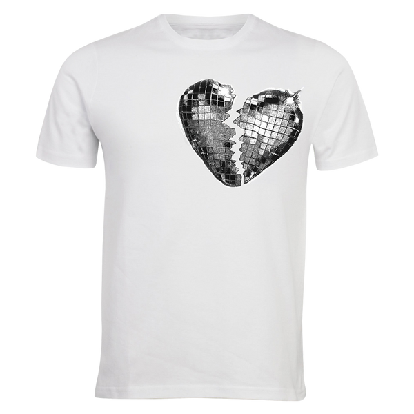 GLITTER HEARTBREAK WHITE TEE + UPGRADE