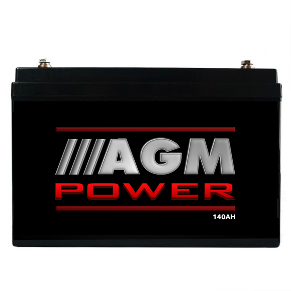 12V 140AH AGM Power Sealed Battery Caravan Boat Camping Power Solar Recharge