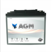 12V 90A AH AGM Volt Deep Cycle Battery Power Sealed SLA Camping Solar Marine