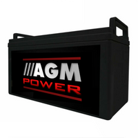 160A AMP 12V AGM Sealed Deep Cycle Sealed Starting Battery Boat 4X4