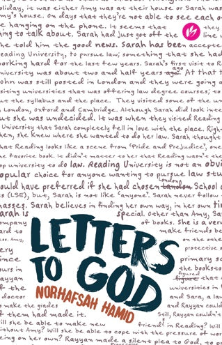 Letters To God - Norhafsah Hamid - Sakeena Books