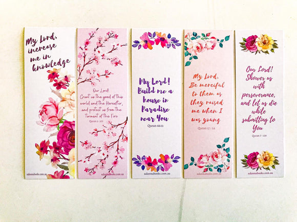 Sakeena bookmarks - 'Flower' Series (set of 5 bookmarks)