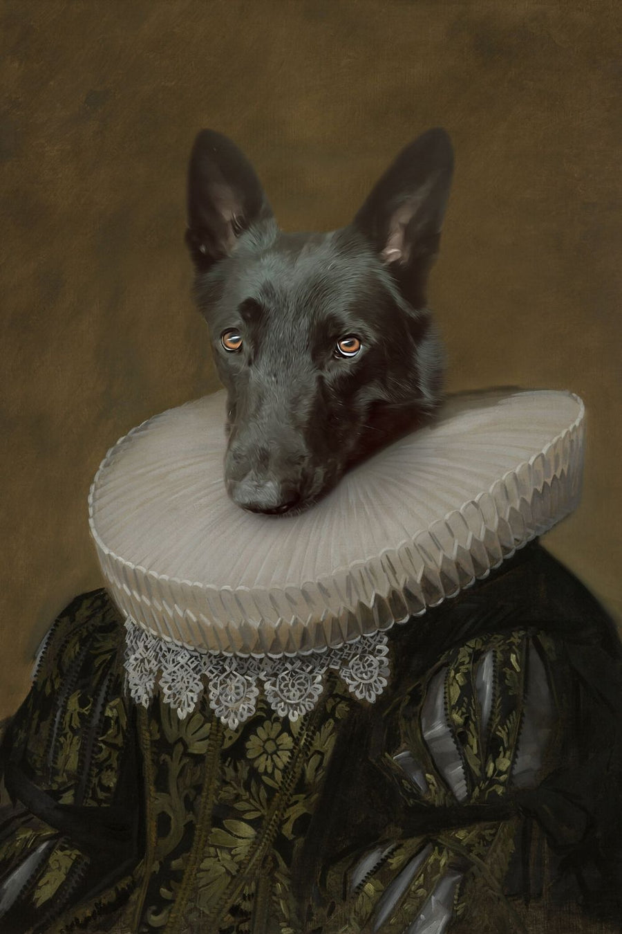 The Countess - Custom Canvas Pet Art Work