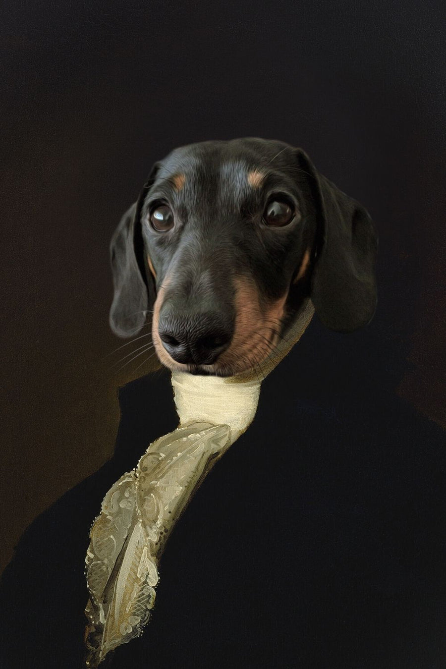 The President - Custom Canvas Pet Art Work