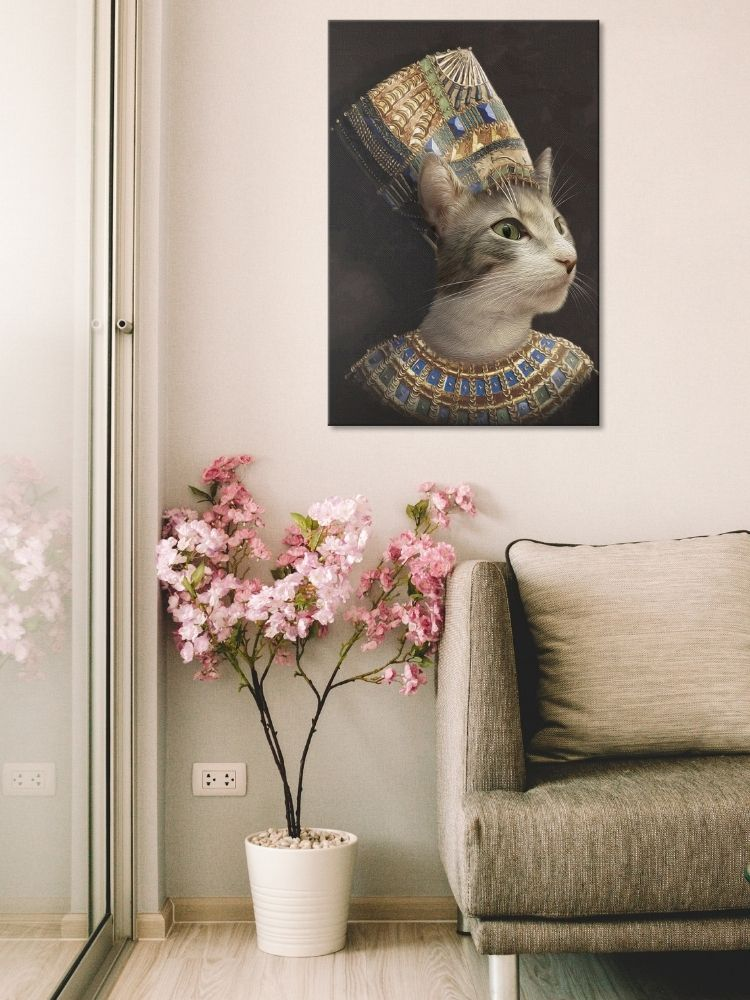 The Egyptian Queen - Custom Canvas Pet Art Work