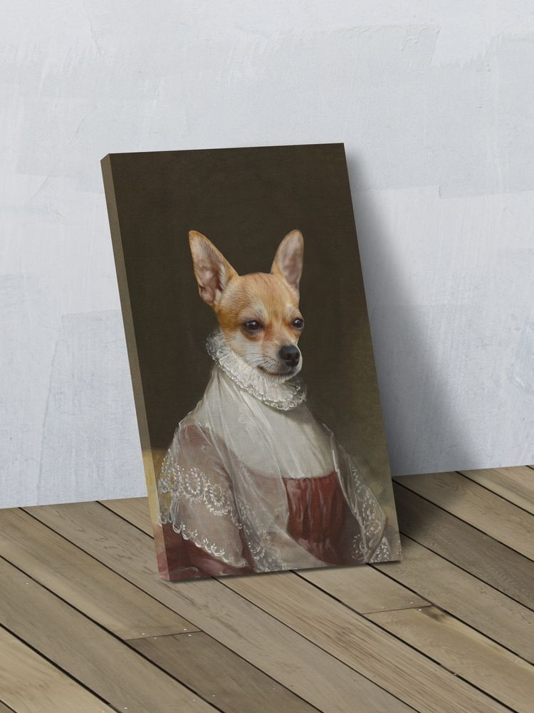 The First Lady - Custom Canvas Pet Art Work