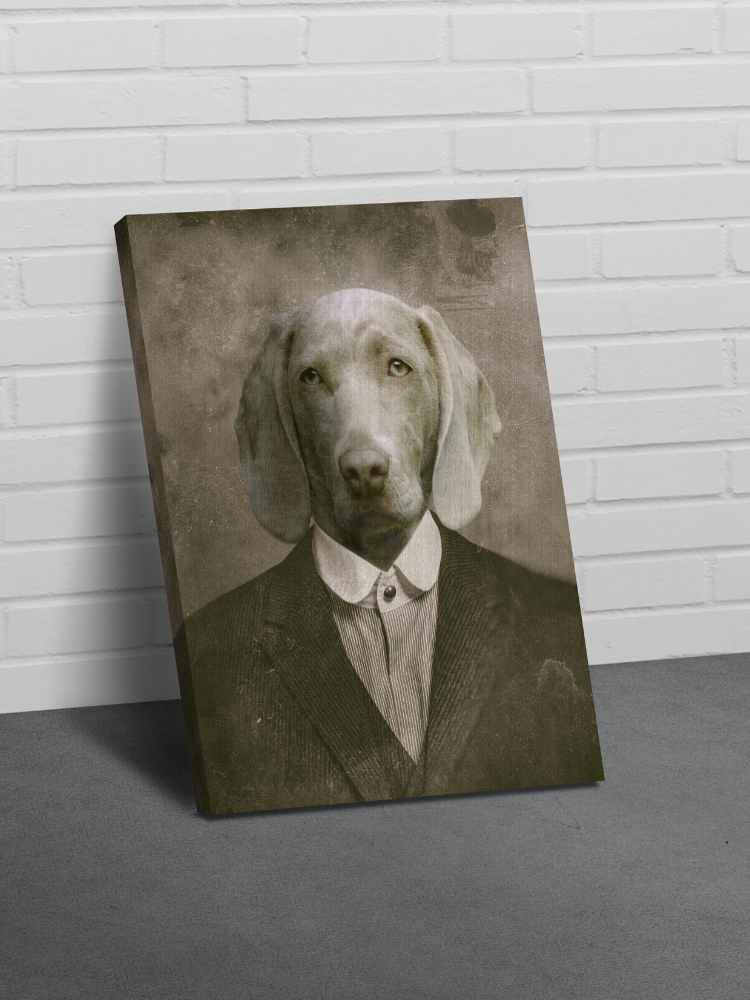 The Gangster - Custom Canvas Pet Art Work