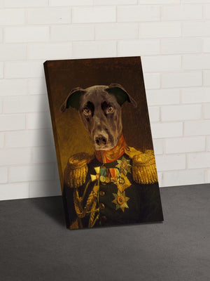 The Veteran - Custom Canvas Pet Art Work