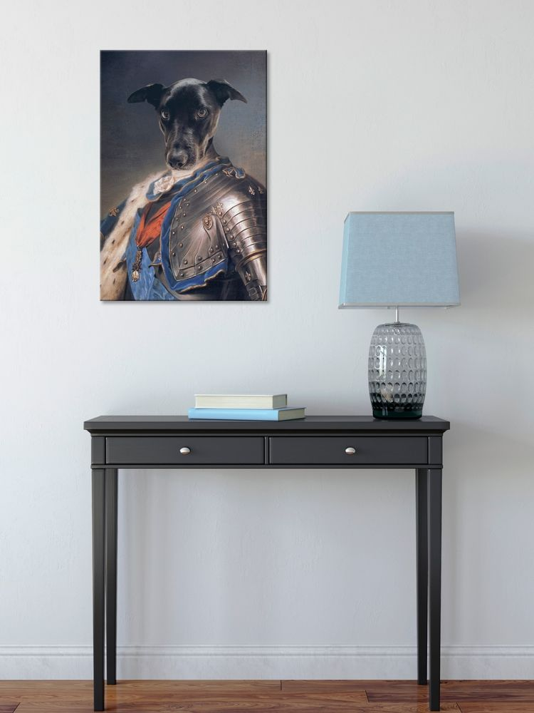 The Knight - Custom Canvas Pet Art Work