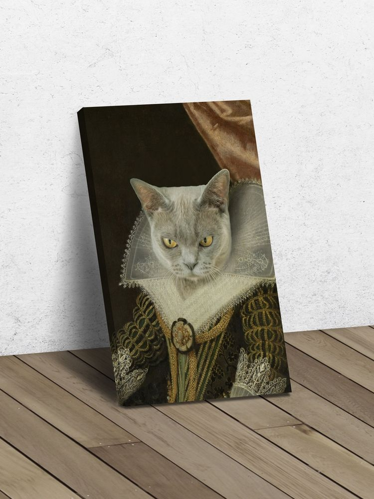 The Princess - Custom Canvas Pet Art Work