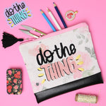 Do The Thing Zipper Pouch