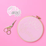 Girl With Brains Embroidery Hoop
