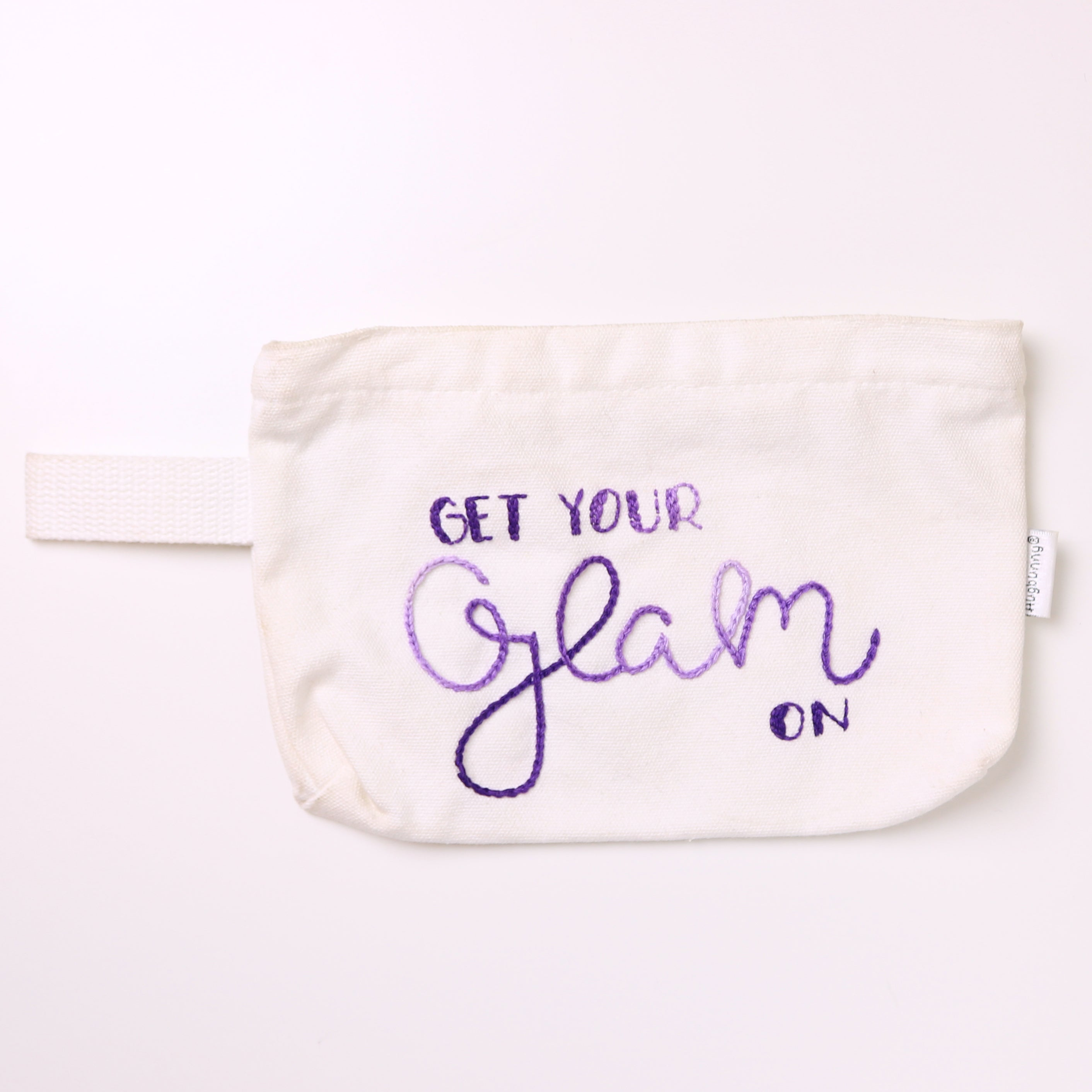 Get Your Glam On Embroidered Zipper Pouch
