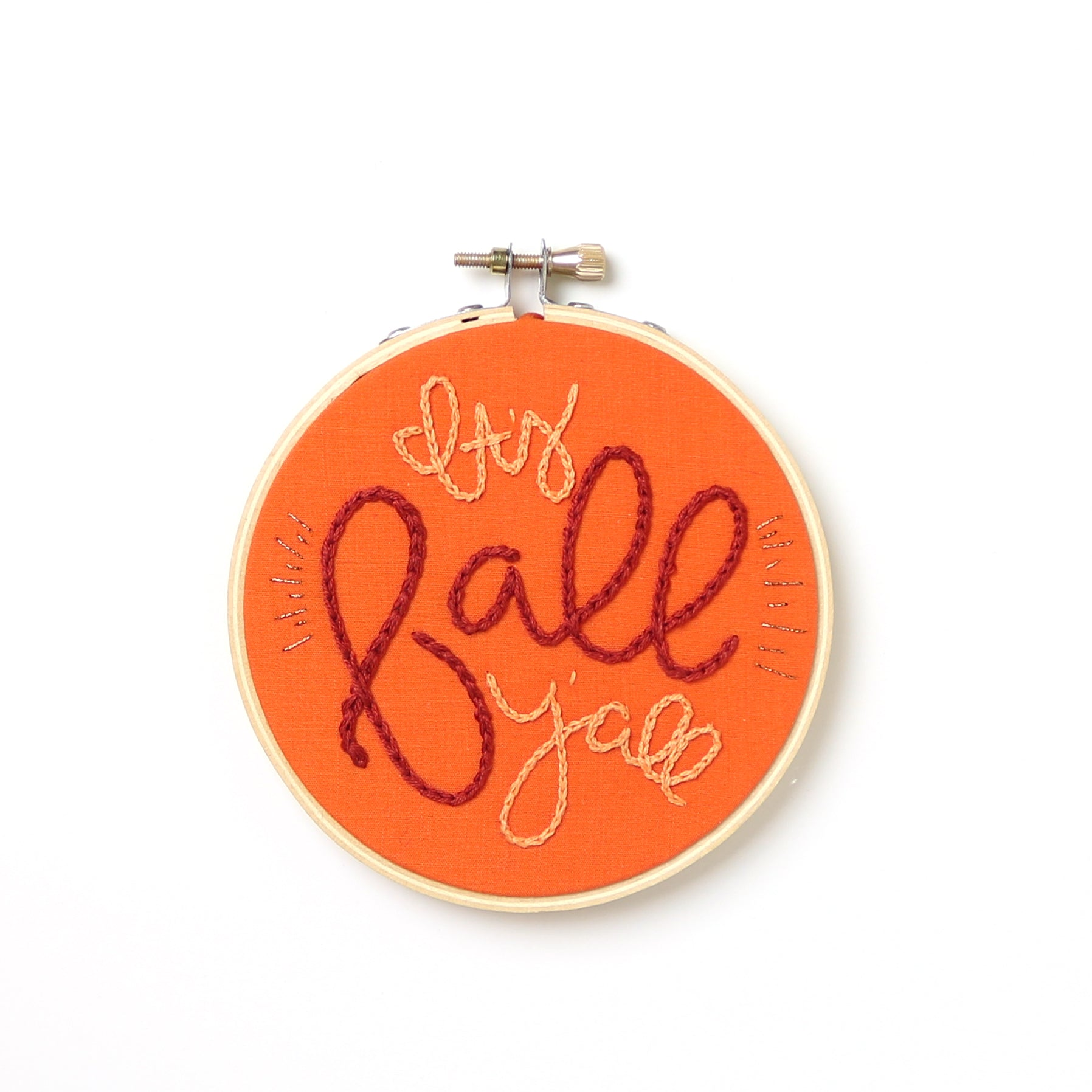 It's Fall Y'all Embroidery Hoop