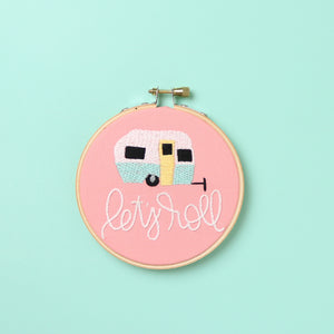 Let's Roll Embroidery Hoop
