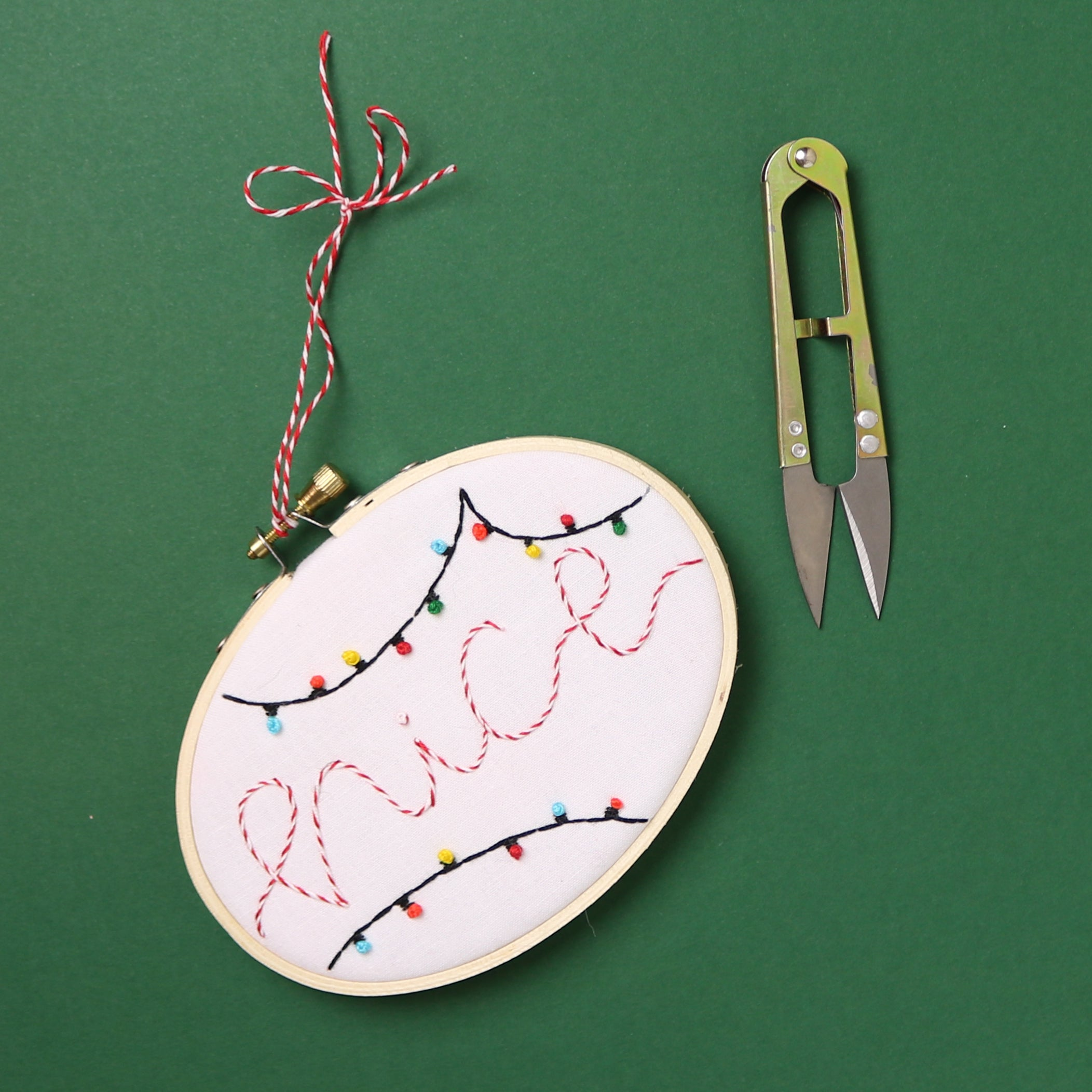 Nice Ornament Embroidery Hoop