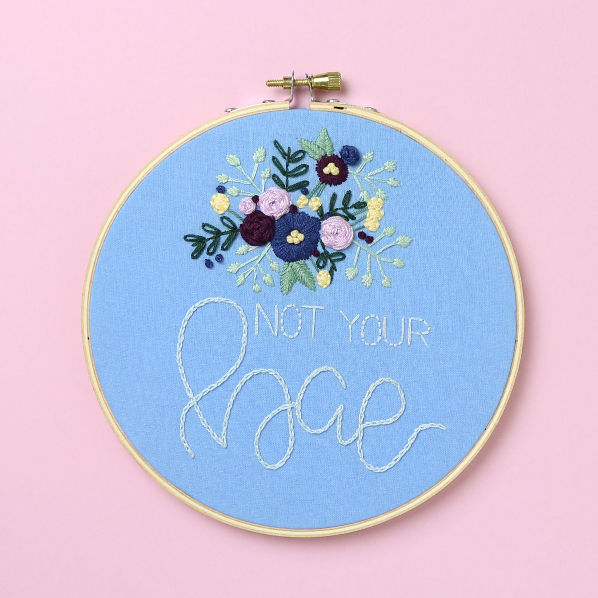 Not Your Bae Embroidery Hoop