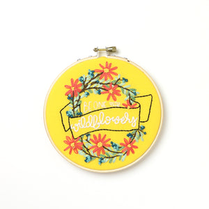 Wildflowers Embroidery Hoop