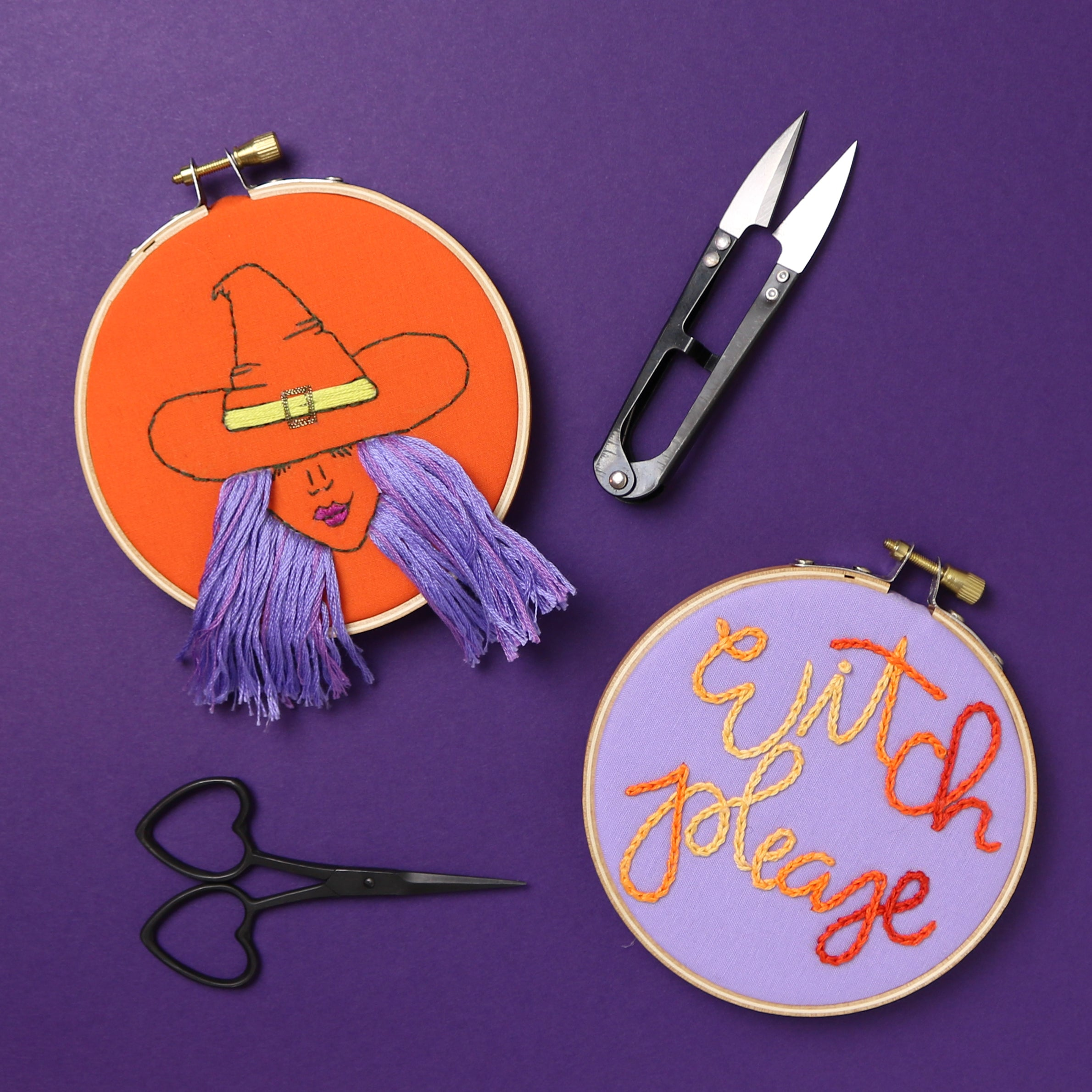 Witch Please Embroidery Hoop Set