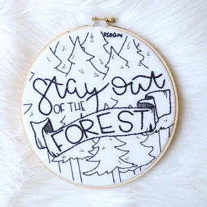 Custom MFM Themed Embroidery Hoop