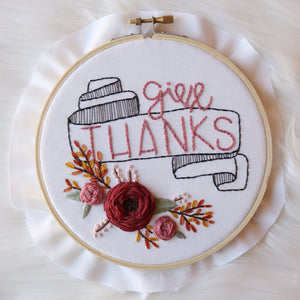 Give Thanks PDF Embroidery Pattern