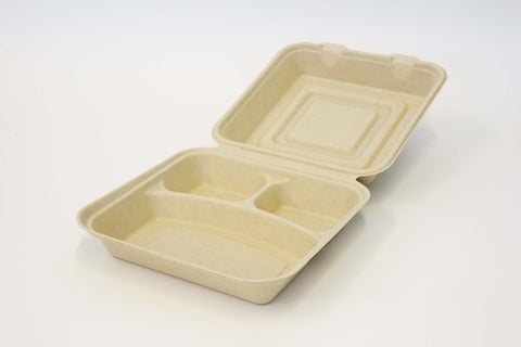 Clamshell - 9 inch 3 Compartment