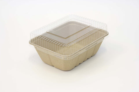 Utility Tray Dome PET Lid & Biodegradable Packaging | Biodegradable Food Containers