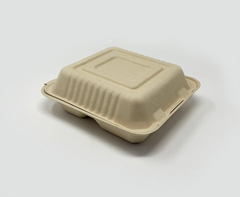 Clamshell - 8 inch 3 Compartment