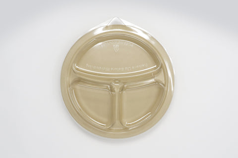 Plate Lid - 10 inch 3 Compartment Deep Plate Lid