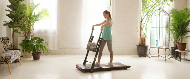 movable, storable treadmill