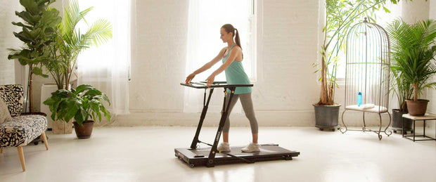 landice folding treadmill, walk