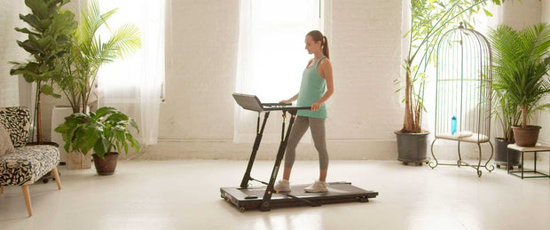 stowable treadmill