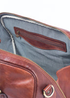 Frères De voyages heritage bag leather weekend bag