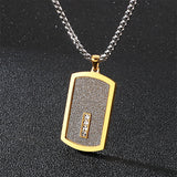 Dog Tag Pendant Necklace Bling - CIVIBUY