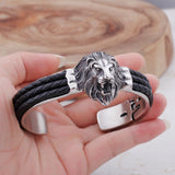 Lion Head Men's Titanium Steel Bracelet N2E-G03 - CIVIBUY