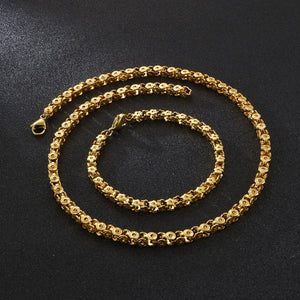 Gold Chain Necklaces for Women Cute Link Chain Trendy Necklace Simple Necklace for Men - CIVIBUY