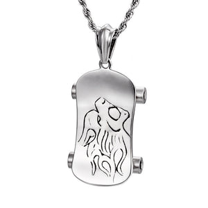 Lionhead Scooter Men's Pendant Necklace Q28TK-R36 - CIVIBUY