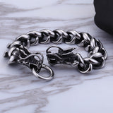 Viking bracelet steel chain Dragon stainless steel Men Bracelet TTK-S06 Free shipping - CIVIBUY
