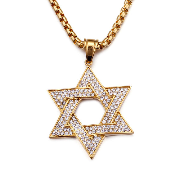 Solomon Pentagram Hip Hop Pendant RE2-G11 - CIVIBUY