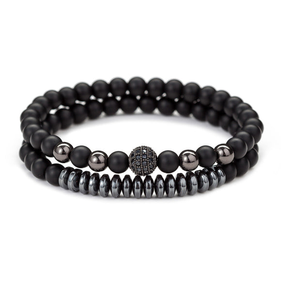 Onyx Matte Bracelet 8mm Beads Natural Stone Chakra Collection Reiki Gift for Men Women - CIVIBUY